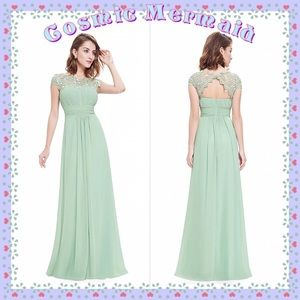 Dresses & Skirts - MINT🆕⭐️Grecian Goddess Flowy Bridesmaid Dress⭐️